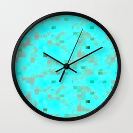Abstract Red Wall Clock