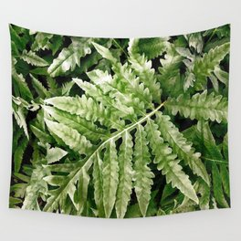 Lush Ferns Wall Tapestry