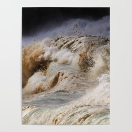 Monster Waves At Pipeline Poster