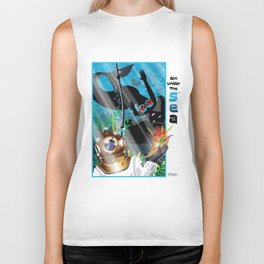 Girl Under The Sea...Love From Above! Biker Tank