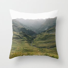 Little People - Landscape Photography Throw Pillow