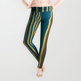 Yellow lines into the sky Leggings