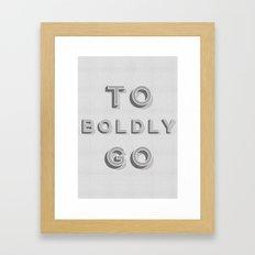Star Trek - To boldly go Typography Print Framed Art Print