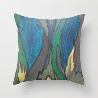 camo Throw Pillows featuring Camo by Kristin Rodgers
