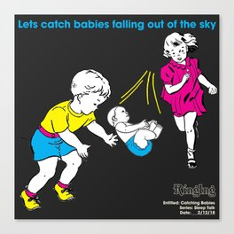 Catching Babies Canvas Print