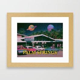 greetings from palm springs Framed Art Print