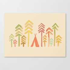Tepee in the forest Canvas Print