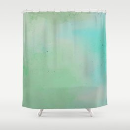 Greenscape Watercolour Shower Curtain