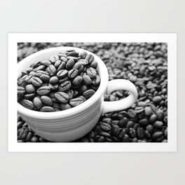 Black and White Coffee Photography - Don't Be Latte Art Print
