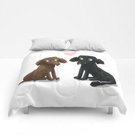 Cute Dog Illustration- Poodles Comforters