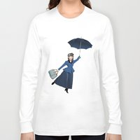 mary poppins Long Sleeve T-shirts featuring Mary Poppins by Vannina