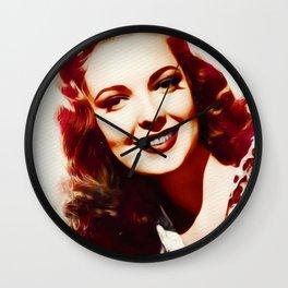Linda Darnell, Vintage Actress Wall Clock