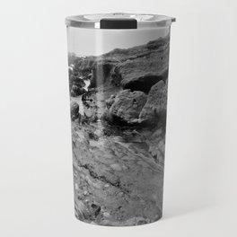 Bedrock Seascape Grayscale #2 Travel Mug