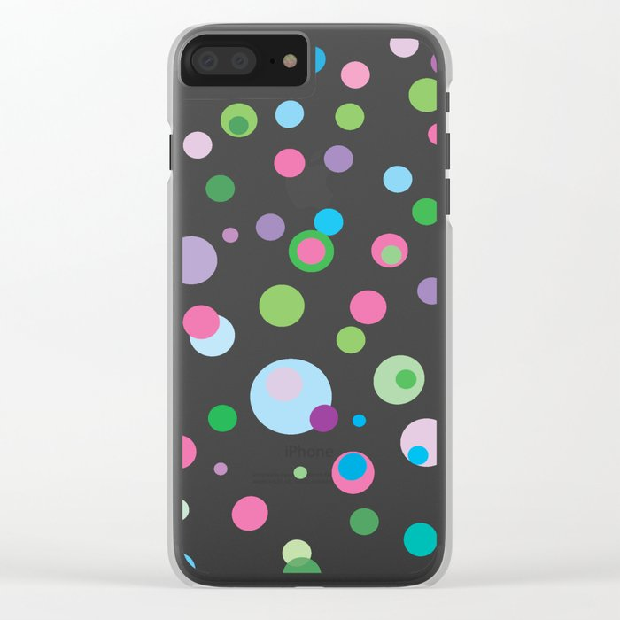 Colorful Rain Clear iPhone Case
