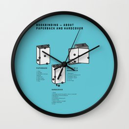 Bookbinding – About Paperback and Hardcover (in English) Wall Clock