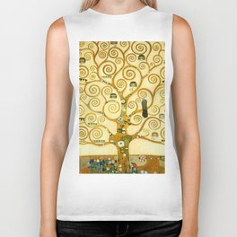 "Gustav Klimt ""Tree of life"" Biker Tank"