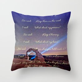 The Wound Is The Place Where The Light Enters You - Rumi Throw Pillow