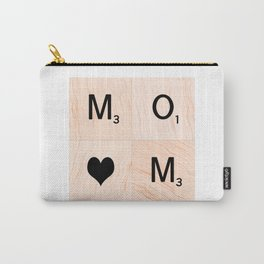 Gift for MOM Scrabble Tile Art - Mother's Day Carry-All Pouch
