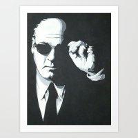 Tony Soprano : Black & White Art Print