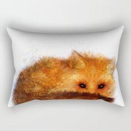 Shy Red Fox Rectangular Pillow