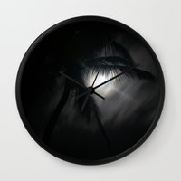 mortal instruments Wall Clocks featuring Dreams of Mortal Bliss by Sharon Mau
