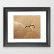 I ♥ beach Framed Art Print