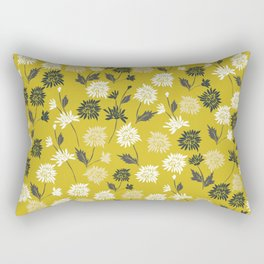 Chinoiserie pattern with flowers Rectangular Pillow