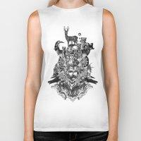 wizard Biker Tanks featuring Wizard by DIVIDUS
