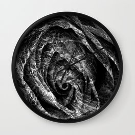 Charred Rose Wall Clock