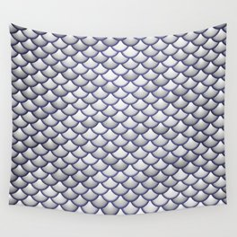 Silver Scales Wall Tapestry