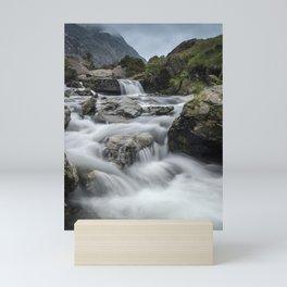 Waterfalls in Snowdonia Mini Art Print