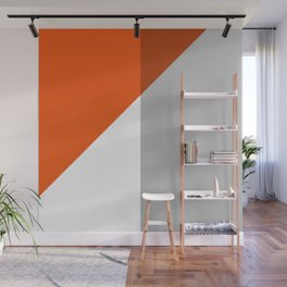 Orange Colorblock  Wall Mural