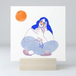 Lune rousse Mini Art Print
