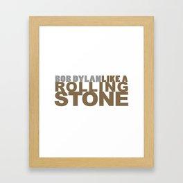 Bob DYLAN #GOLD Framed Art Print
