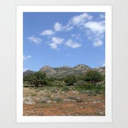Mediterranean Landscape Art Print