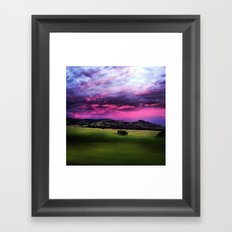 Aussie Sunset Framed Art Print