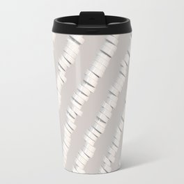 Pattern of white cylinders Travel Mug