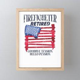 fire department pensioner pensioner firefighter Framed Mini Art Print