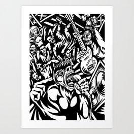 Illustration of Rock Concert Art Print
