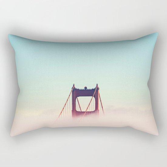 Pastel Sky Bridge New York Rectangular Pillow