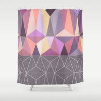 nordic Shower Curtains featuring Nordic Combination 31 Z by Mareike Böhmer