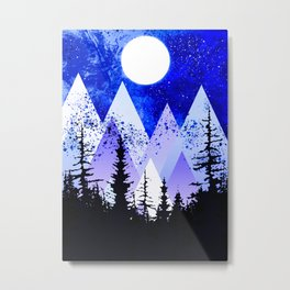 blue nebular Metal Print