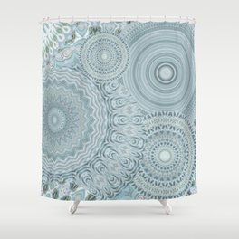 Ylide - Mandala storage Y of Alphabet collection Shower Curtain
