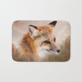 Fox in the wild Bath Mat