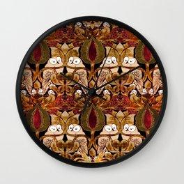 Art Nouveau Owls Wall Clock