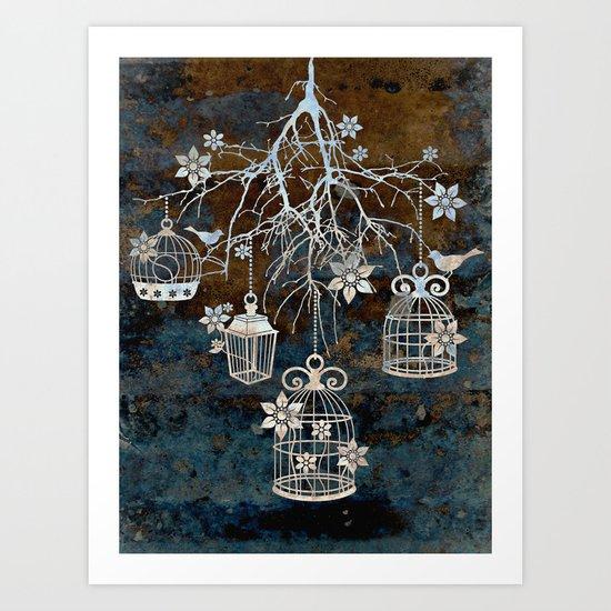 Bird Cage Chandelier Art Print