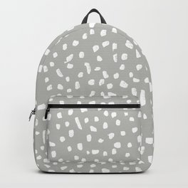 Grey and White Painted Speckle Pattern Backpack