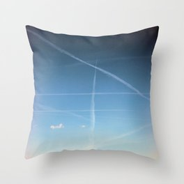 Traces of the Sky Throw Pillow