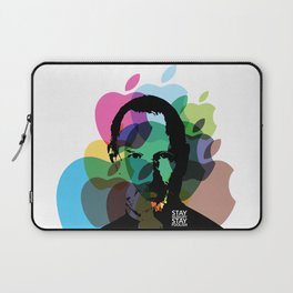 Lab No. 4 - Steve Jobs Inspirational Typography Print Poster Laptop Sleeve