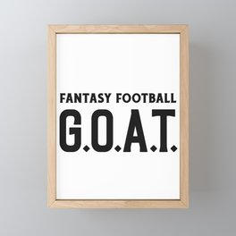 Fantasy Football GOAT Framed Mini Art Print